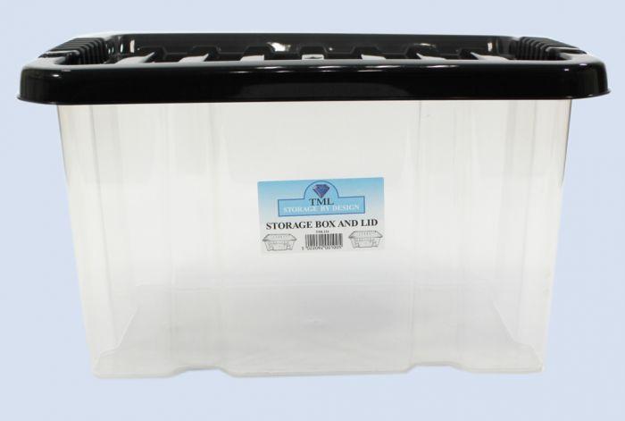 TML Storage Box & Lid 24L Clear