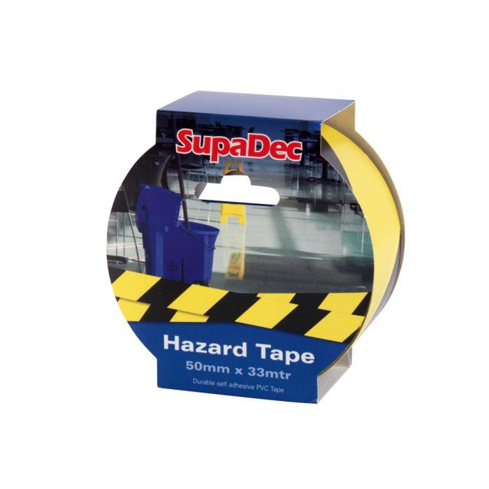 SupaDec Hazard Warning Tape 50mm x 33m Yellow/Black