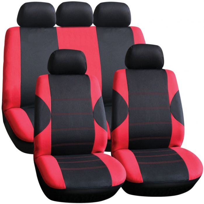 Streetwize Seat Cover Set 11 Piece Red/Black
