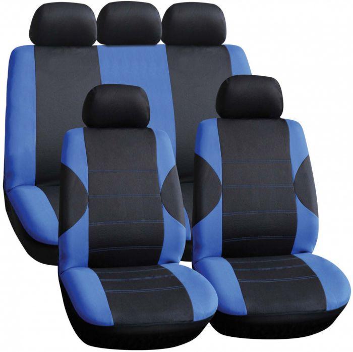 Streetwize Seat Cover Set 11 Piece Blue/Black