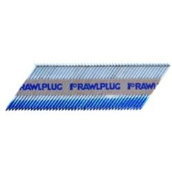 Rawlplug Paper Collated Nails With Fuel Cell Ring Galvanised 2.8X51 Pack 3300