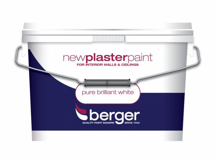 Berger New Plaster Paint Matt 10L Pure Brilliant White