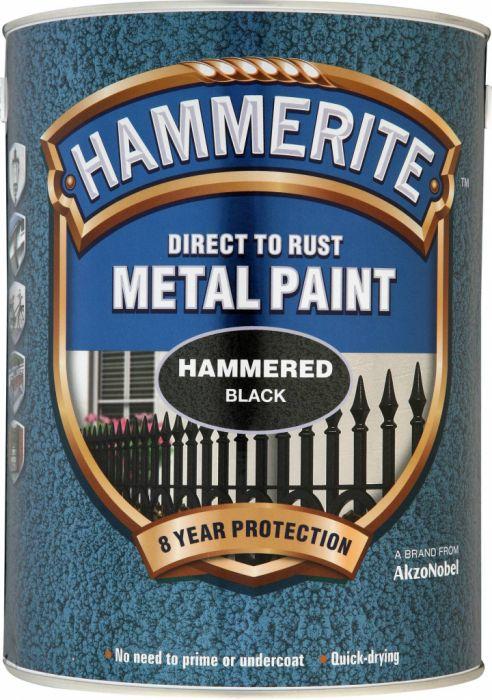 Hammerite Metal Paint Hammered 5L Black