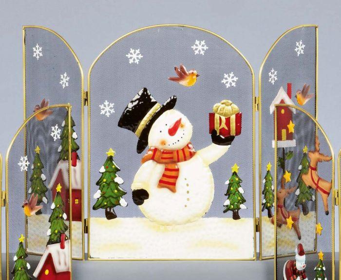 Fireguard With Snowman