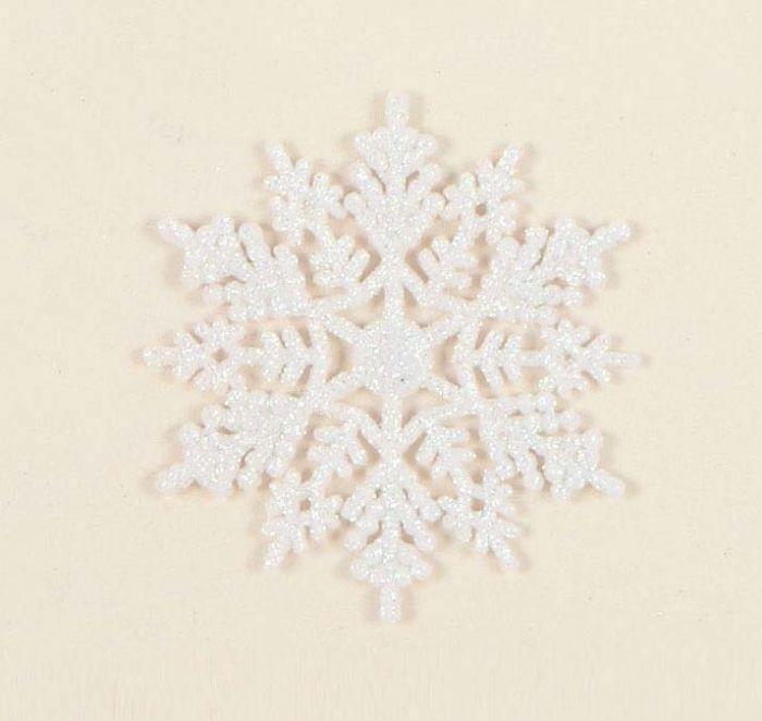 White Glitter Snowflakes
