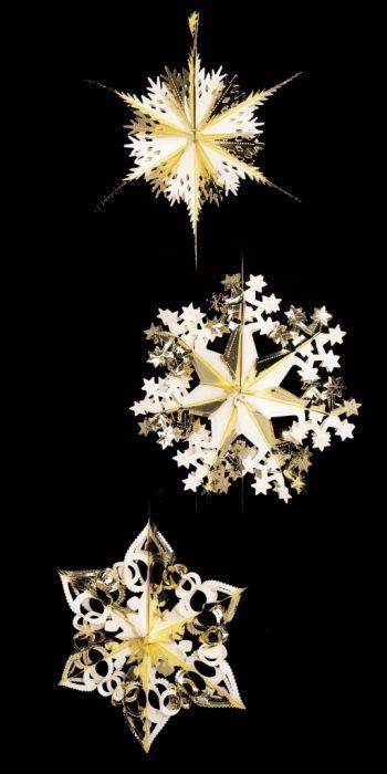 Foil Starburst Gold/Ivory 3 Assorted