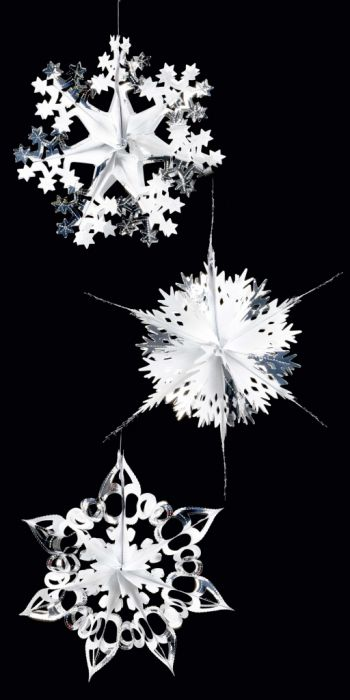 Foil Starburst Silver/White 3 Assorted