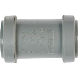 Polypipe Straight Coupling Push-fit 40mm Black