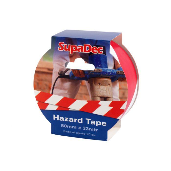 SupaDec Hazard Warning Tape 50x33m Red/White