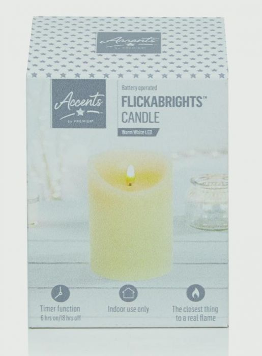 Textured Candle With Timer
