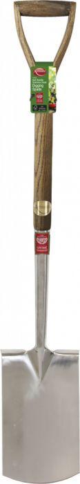Ambassador Ash Handle Stainless Steel Digging Spade Length: 105cm