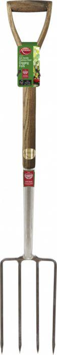 Ambassador Ash Handle Stainless Steel Digging Fork Length: 105cm