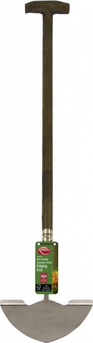 Ambassador Ash Handle Stainless Steel Edging Iron Length: 87cm