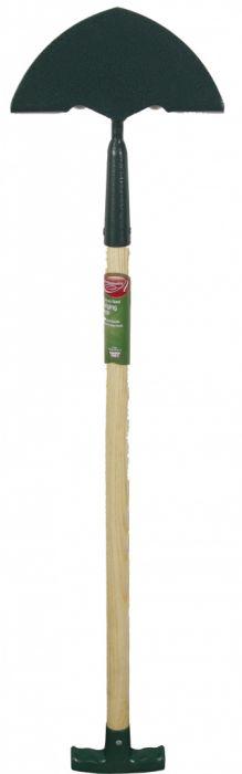 Ambassador Carbon Steel Edging Iron Length: 92cm. Wooden Handle Length: 61cm