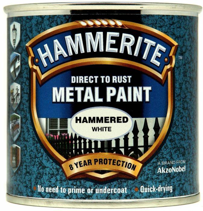 Hammerite Metal Paint Hammered 250ml White