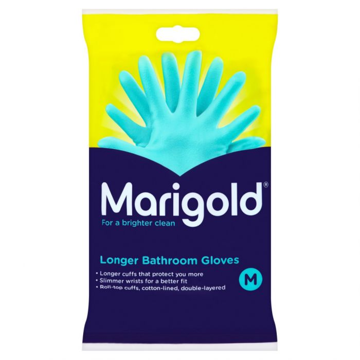 Marigold Bathroom Gloves Medium 6s