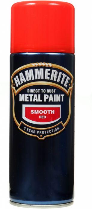 Hammerite Metal Paint 400ml Aerosol Smooth Red
