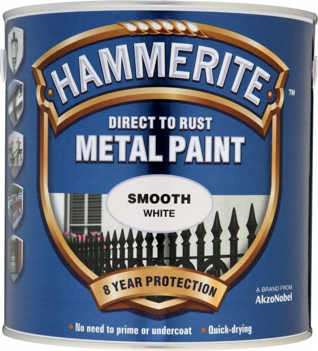 Hammerite Metal Paint Smooth 2.5L White