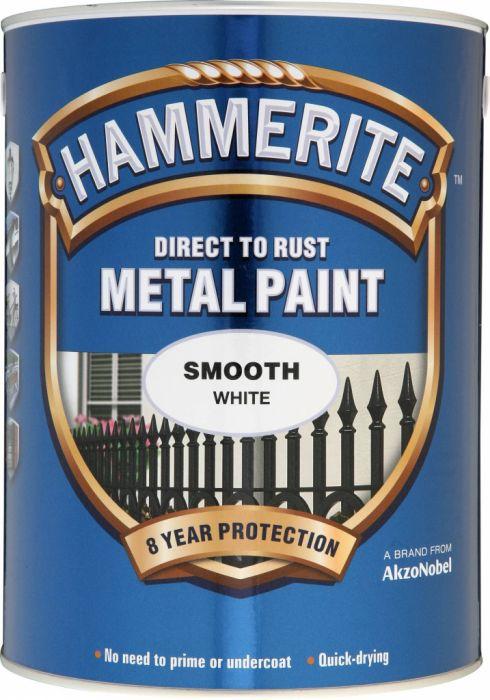Hammerite Metal Paint Smooth 5L White