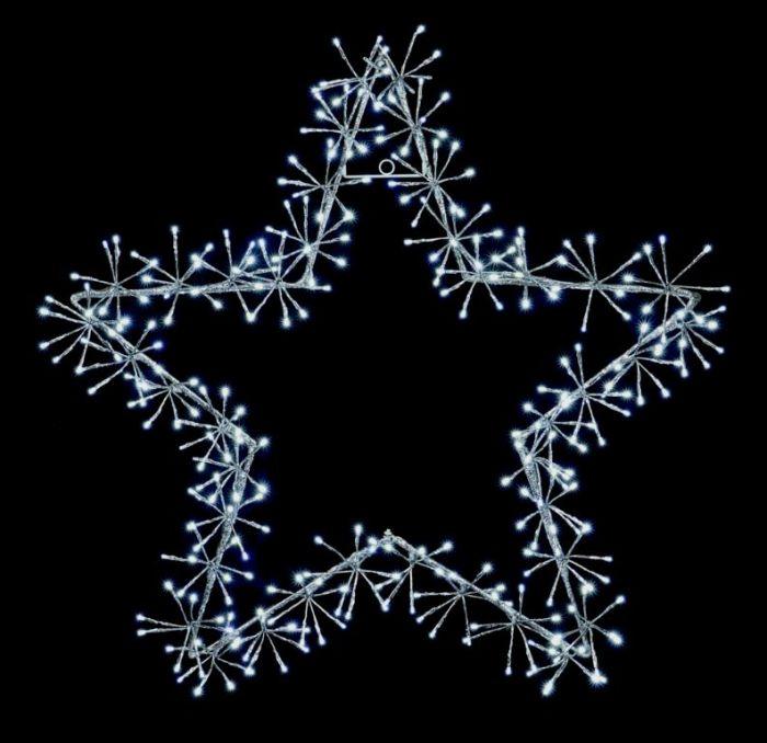 Silver Star Cluster 240 White Leds