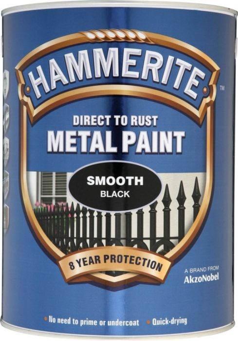 Hammerite Metal Paint Smooth 5L Black