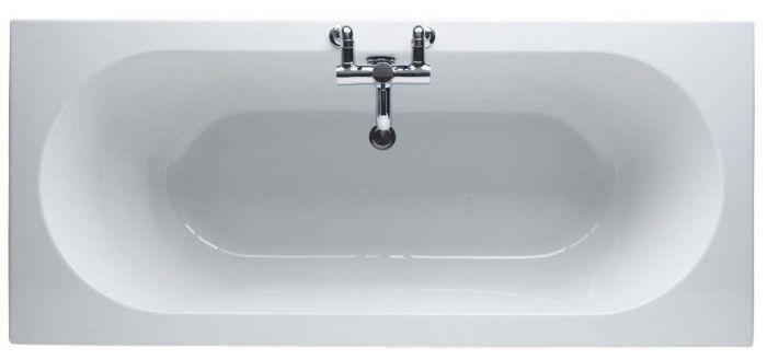 Trojan Cascade 1700 x 700mm No Tap Hole Twin End Bath White