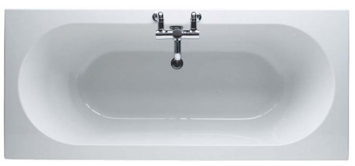 Trojan SP Cascade 1800 x 800mm No Tap Hole Twin End Bath White