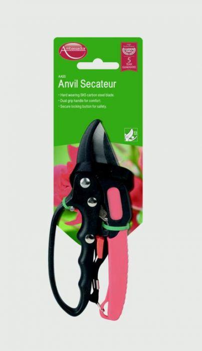 Ambassador Anvil Secateur 18mm Cutting