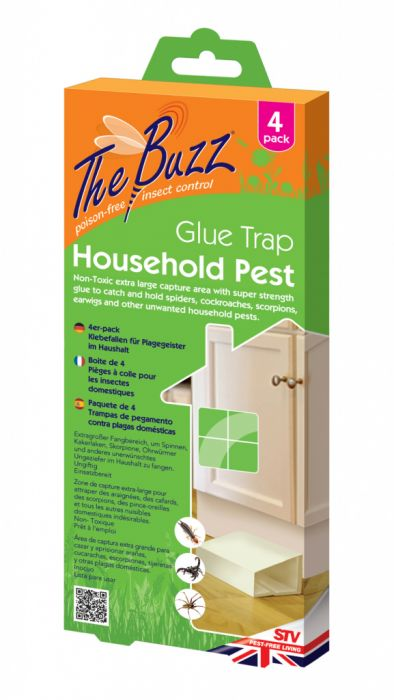 Zero In The Buzz Household Pest Glue Trap 4 Pack