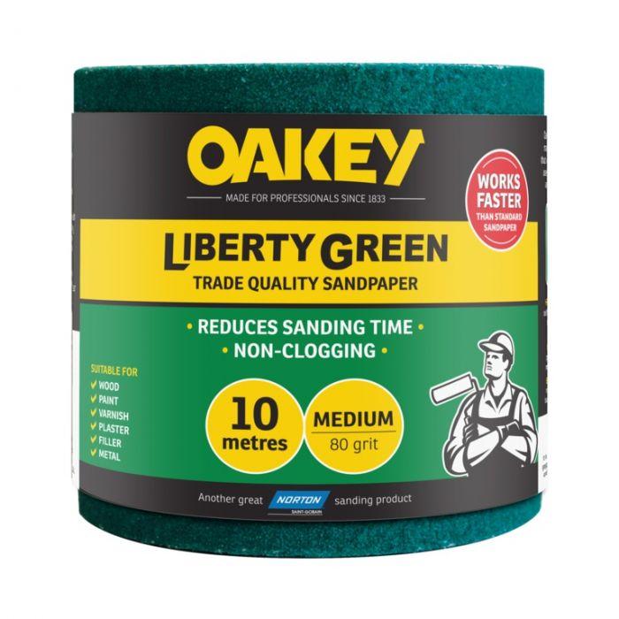 Norton Oakey Liberty Green Rolls - 10m x 115mm 80 Grade