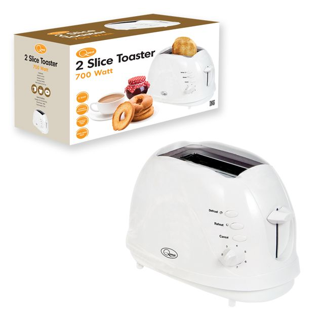 Quest 2 Slice Toaster White