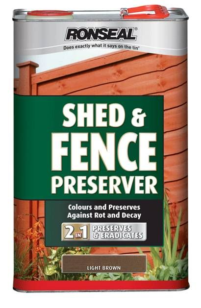 Ronseal Shed & Fence Preserver 5L Black