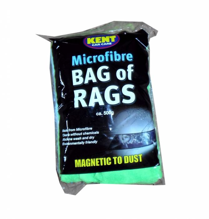 Kent Car Care Microfibre Bag Of Rags 500grm