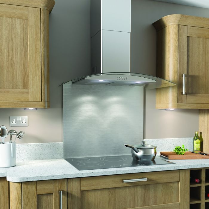 Kitchenplus Curve Stainless Steel Cooker Hood 90cm
