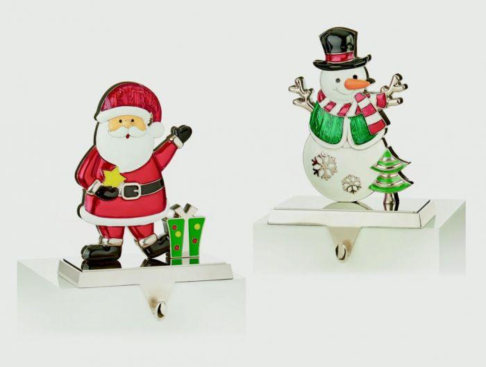 Santa Snowman Stocking Hanger