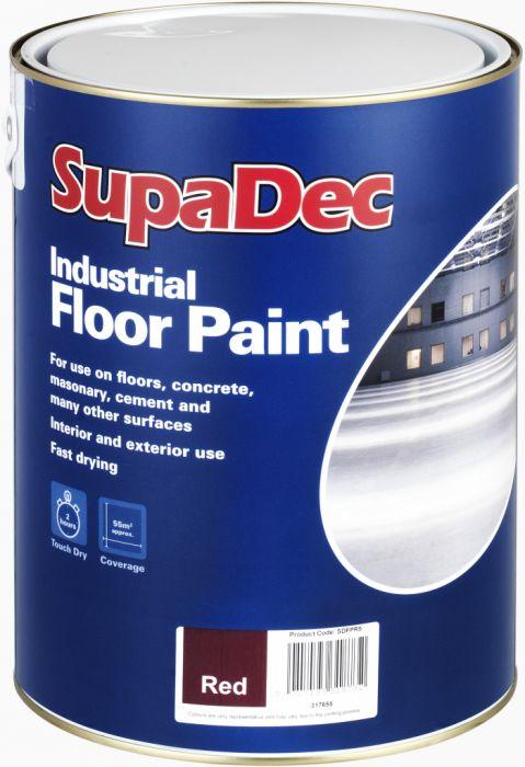 SupaDec Industrial Floor Paint 5L Tile Red