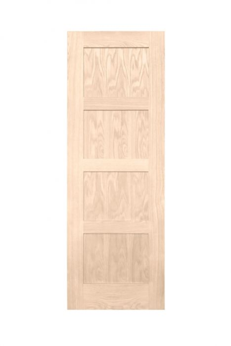 Woodside Oak Veneer 27 Interior Door 4 Panel Shaker (W)686Mm X (H)1981Mm X (D)35Mm