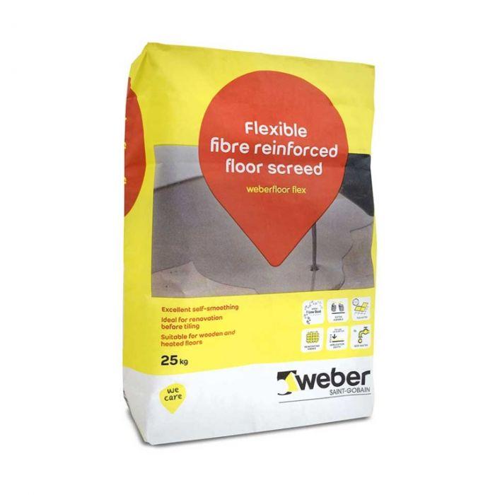 Weber Flexible Floor Levelling Compound 25kg Grey