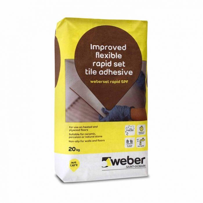 Weber Set Rapid SPF Flexible Tile Adhesive 20kg White
