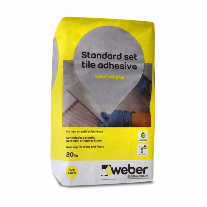 Weber Set Plus Tile Adhesive White 20kg