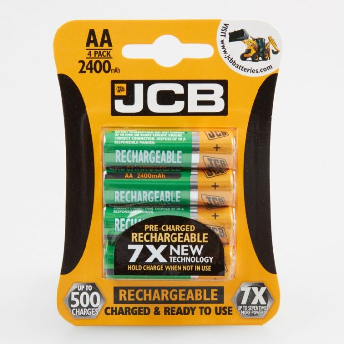 JCB AA Batteries 2400mah Card 4