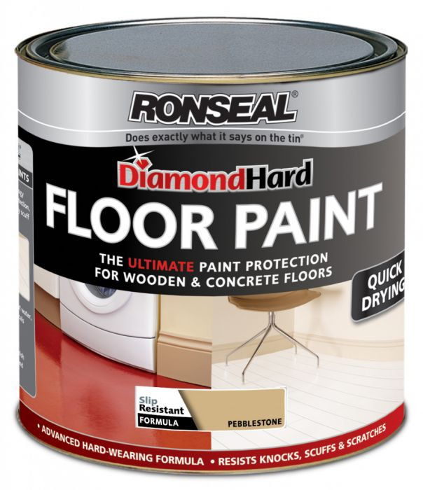 Ronseal Diamond Hard Floor Paint 2.5L Pebble