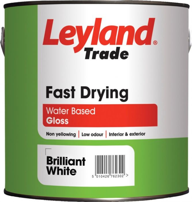 Leyland Trade Fast Drying Gloss 2.5L Brilliant White