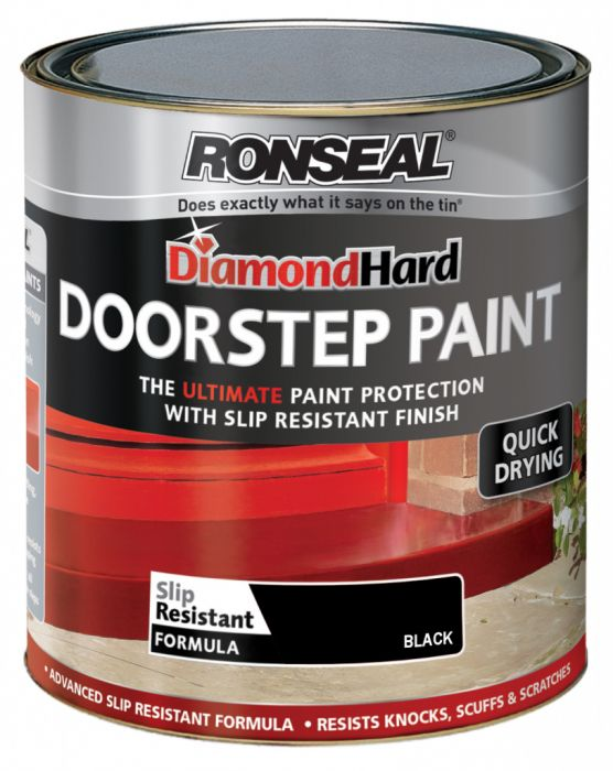 Ronseal Diamond Hard Door Step Paint 250ml Black