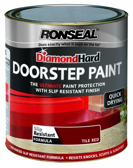 Ronseal Diamond Hard Door Step Paint 750ml Red