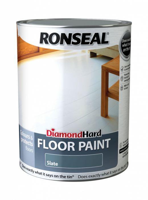 Ronseal Diamond Hard Floor Paint 5L Slate