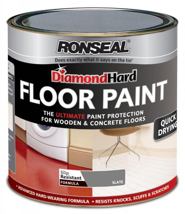 Ronseal Diamond Hard Floor Paint 750ml Slate