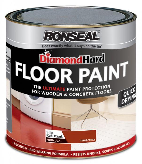 Ronseal Diamond Hard Floor Paint 750ml Terracotta