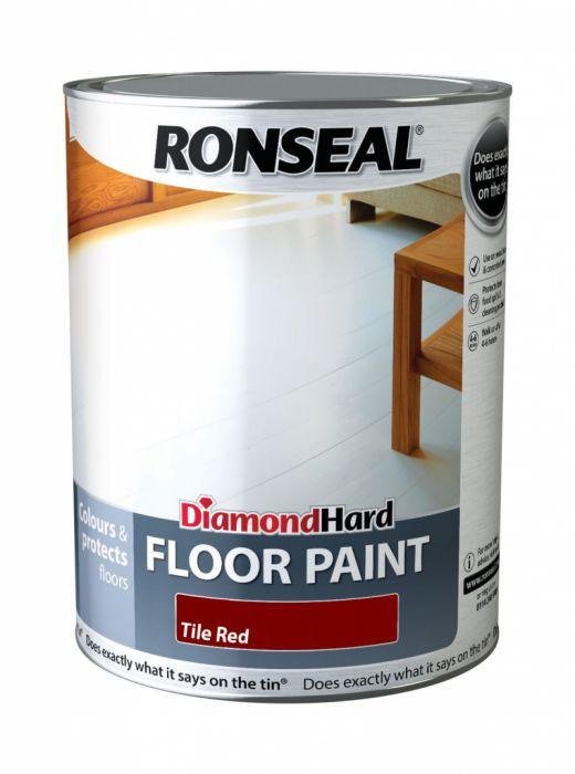 Ronseal Diamond Hard Floor Paint 5L Red