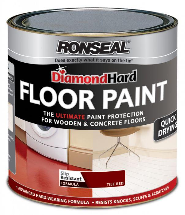Ronseal Diamond Hard Floor Paint 750ml Red